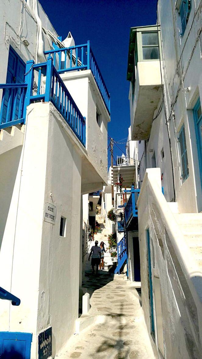 street blue white